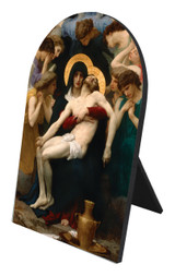 La Pieta Arched Desk Plaque