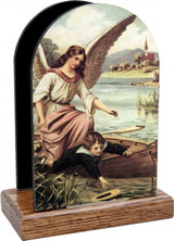 Guardian Angel on the Boat Table Organizer (Vertical)