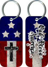 God Bless America Rectangle Keychain