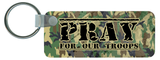 Pray for Our Troops Rectangle Keychain