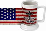 God Bless America Beer Stein