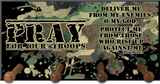 Pray for Our Troops  Keychain Holder