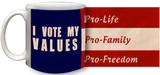 I Vote My Values Mug