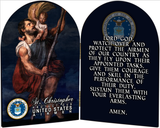 Air Force St. Christopher II Arched Diptych