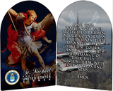 Air Force St. Michael I Arched Diptych