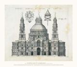 Forma Templi d Petri in Vaticano Paper Print