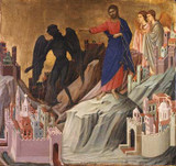 The Temptation of Christ on the Mountain print by Duccio