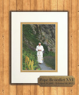 Pope Benedict in the Mountains 8x10 Matted Print with Commemorative Plate