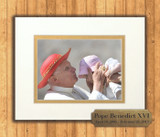 Pope Benedict Kissing an Infant 8x10 Matted Print with Commemorative Plate