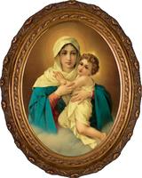 Schoenstatt Madonna - Oval Framed Canvas