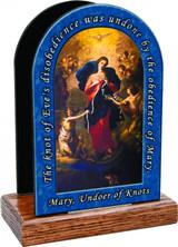 Mary Undoer of Knots Table Organizer (with prayer)