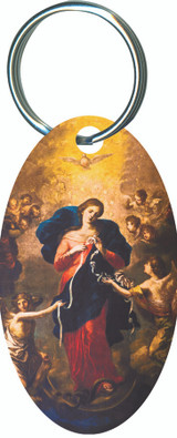 Mary Undoer of Knots Oval Keychain
