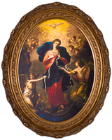 Mary Undoer of Knots - Oval Framed Canvas