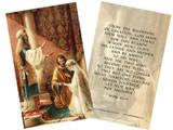 Wedding of Joseph & Mary Holy Card