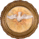 Holy Spirit - Round Framed Canvas