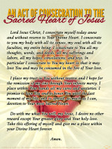 An Act of Consecration to the Sacred Heart of Jesus - Traditional Sacred Heart of Jesus Poster