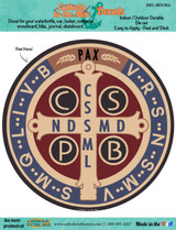Benedictine Medal Decal