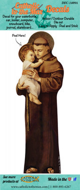 St. Anthony with Jesus Decal