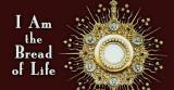 Eucharist in Monstrance 'Bread of Life' Vinyl Bumper Sticker