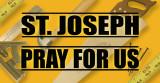 St. Joseph Pray for Us Vinyl Bumper Sticker