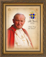 Pope John Paul II Sainthood Commemorative Framed Portrait