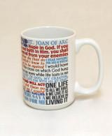 Saint Joan of Arc Quote Mug