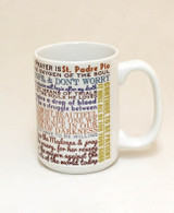 Saint Padre Pio Quote Mug