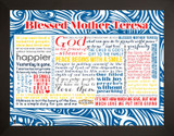 Blessed Mother Teresa Quote Poster