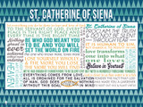 Saint Catherine of Siena Quote Poster