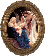 Song of the Angels - Oval Framed Canvas