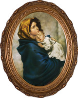 Madonna of the Streets - Oval Framed Canvas
