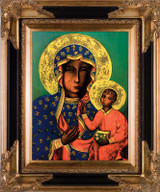 Our Lady of Czestochowa - Black and Gold Framed Canvas