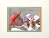 Pope Benedict Kissing Infant Matted - No Frame Image
