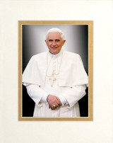 Pope Benedict Formal Matted - No Frame Image