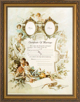 Certificate of Marriage II Gold Framed