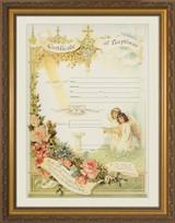 Certificate of Baptism Gold Framed