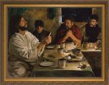Institution of the Eucharist by Jason Jenicke - Standard Gold Framed Art