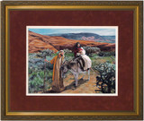 Flight Into Egypt by Jason Jenicke Matted - Standard Gold Framed Art