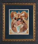 Coronation of Mary by Jason Jenicke Matted - Ornate Dark Framed Art