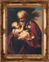 St. Joseph (Older) - Gold Museum Framed Canvas