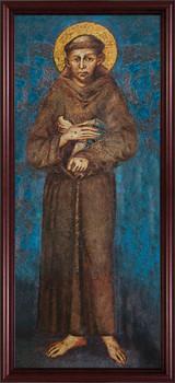 St. Francis - Cherry Framed Canvas