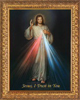 Divine Mercy - Ornate Gold Framed Canvas