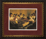 Last Supper by Jason Jenicke Red Matte - Ornate Dark Framed Art