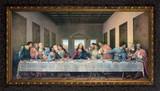 Last Supper by Da Vinci Restored - Ornate Dark Framed Canvas