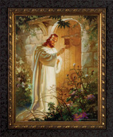 Christ at Heart's Door - Ornate Dark Framed Art
