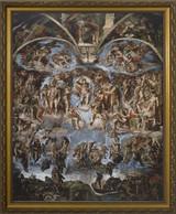 Last Judgement of Christ - Standard Gold Framed Art