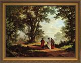 Road to Emmaus - Standard Gold Framed Canvas