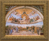 Disputation of the Holy Eucharist - Standard Gold Framed Canvas