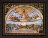 Disputation of the Holy Eucharist - Ornate Dark Framed Canvas