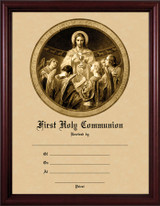 Christ, Bread of Angels - Cherry Framed Certificate